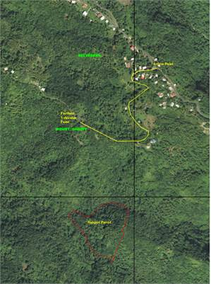 7.41 Acres of Land for Sale in Bouton, Soufriere St Lucia